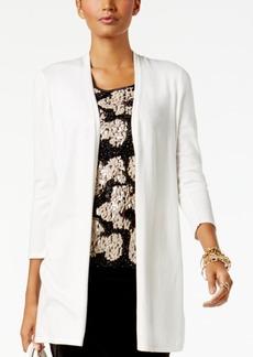 Alfani Crochet-Back Open-Front Cardigan, Created for Macy's