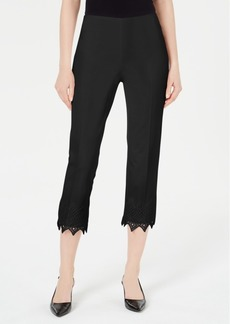 Alfani Crochet-Hem Skinny Pants, Created for Macy's