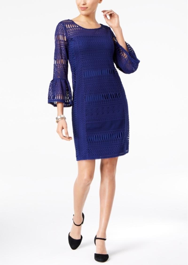 Alfani Crochet Illusion Dress, Created for Macy's
