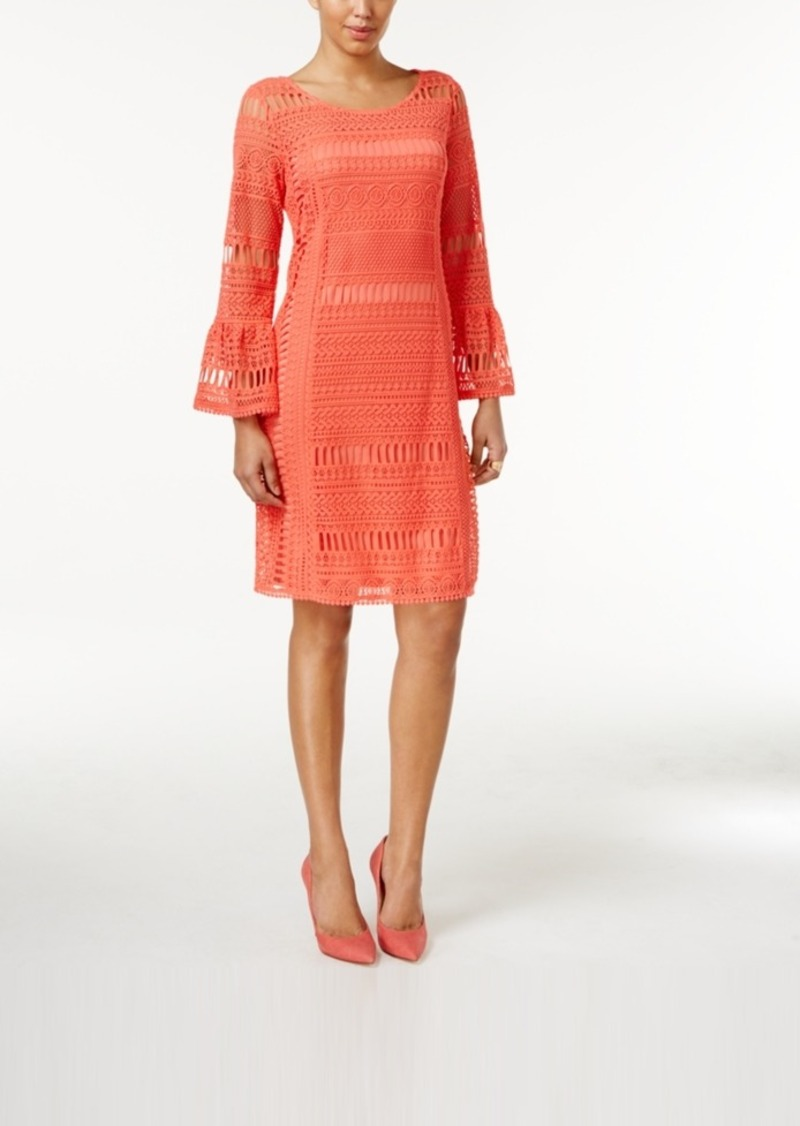 Alfani Crochet Illusion Dress, Only at Macy's