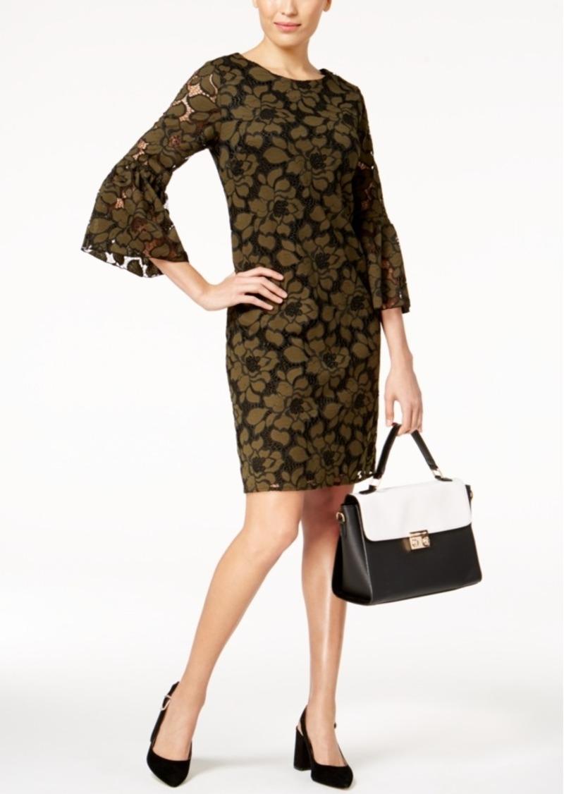 Alfani Crochet-Lace Bell-Sleeve Dress, Created for Macy's