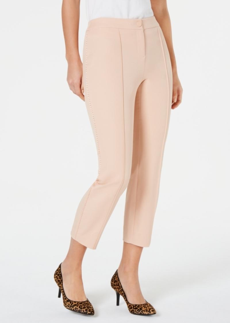 Alfani Crochet-Trim Ankle Pants, Created for Macy's