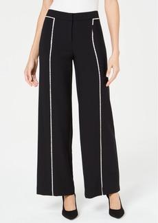 Alfani Crochet-Trim Wide-Leg Pants, Created for Macy's
