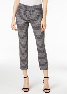 Alfani Cropped Jacquard Pants, Only at Macy's
