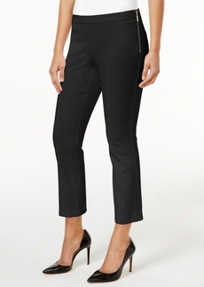 Alfani Cropped Side-Zip Pants, Only at Macy's