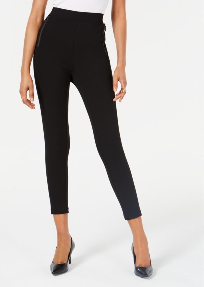 Alfani Curvy Zip-Detail Leggings, Created for Macy's