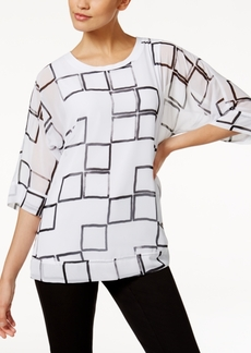 Alfani Dolman-Sleeve Chiffon Top, Created for Macy's