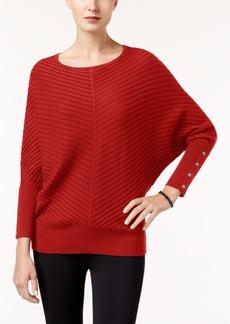 Alfani Dolman-Sleeve Ribbed Sweater, Created for Macy's