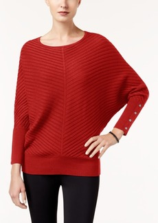 Alfani Dolman-Sleeve Ribbed Sweater, Created for Macy's