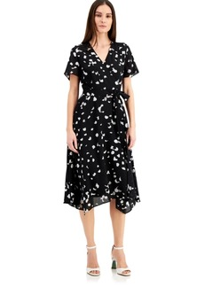 Alfani Dot-Print Midi Wrap Dress, Created for Macy's