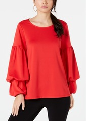 Alfani Double Bubble-Sleeve Top, Created for Macy's