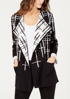 Alfani Double-Knit Sweater Jacket, Created for Macy's