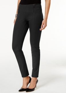 Alfani Double-Zip Skinny Pants, Only at Macy's