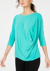 Alfani Draped-Front Top, Created for Macy's