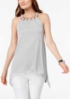 Alfani Embellished Metallic Top, Created for Macy's