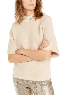 Alfani Embellished Mock-Neck Sweater, Created for Macy's