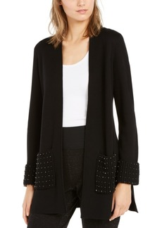 Alfani Embellished Open-Front Cardigan, Created for Macy's