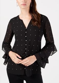Alfani Petite Pearl Embellishment Top, Created for Macy's