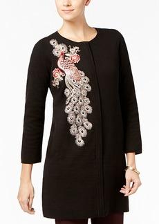 Alfani Embellished Sweater Coat, Created for Macy's