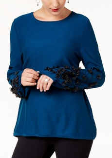 Alfani Petite Embellished Sweater, Created for Macy's