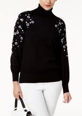 Alfani Embellished Turtleneck Sweater, Created for Macy's