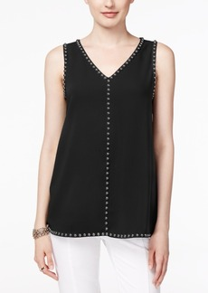 Alfani Embellished V-Neck Top, Only at Macy's