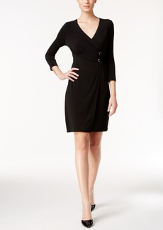 Alfani Embellished Wrap Dress, Only at Macy's