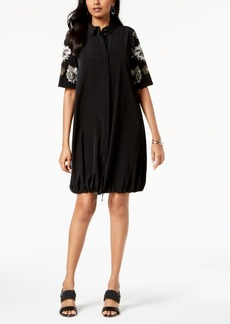 Alfani Embroidered Bungee Shirtdress, Created for Macy's