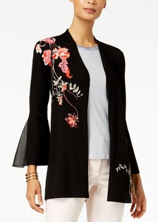 Alfani Embroidered Cardigan, Created for Macy's