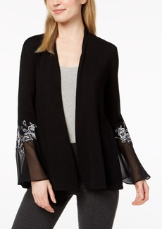Alfani Embroidered Illusion Cardigan, Created for Macy's