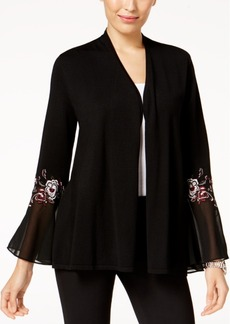 Alfani Petite Embroidered Cardigan, Created for Macy's