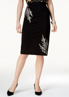 Alfani Embroidered Pencil Skirt, Created for Macy's