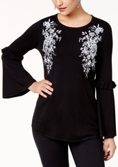 Alfani Embroidered Swing Sweater, Created for Macy's