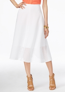 Alfani Eyelet A-Line Skirt, Only at Macy's