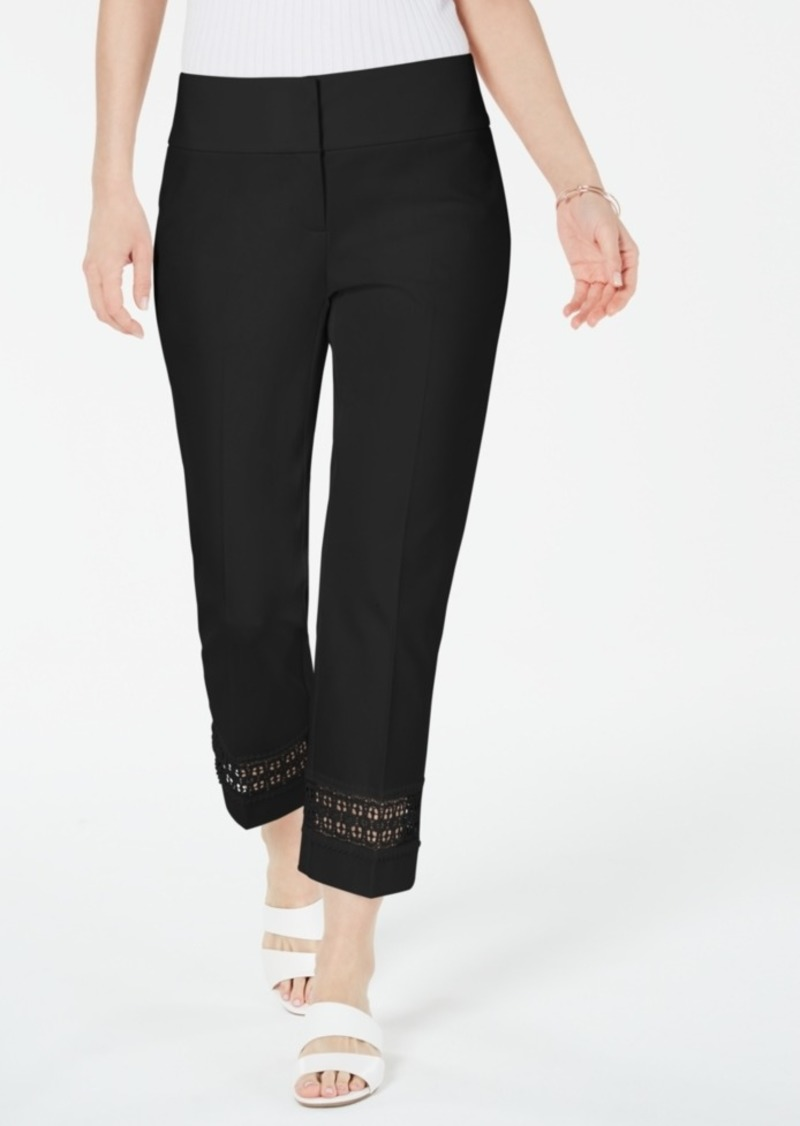 Alfani Eyelet Ankle Pants, Created for Macy's