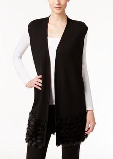 Alfani Faux-Fur-Trim Sweater Vest, Only at Macy's