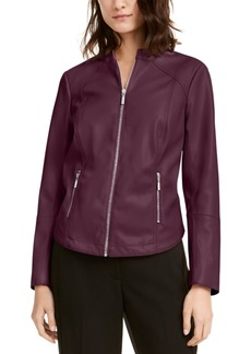 Alfani Faux-Leather Moto Jacket, Created For Macy's