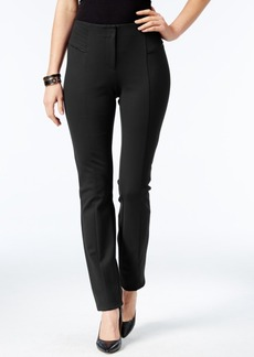 Alfani Faux-Leather-Trim Skinny Pants, Only at Macy's