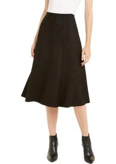 Alfani Faux-Suede Scuba Midi Skirt, Created For Macy's