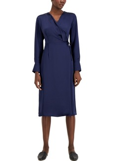 Alfani Faux-Wrap Dress, Created for Macy's