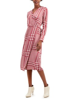 Alfani Faux Wrap Midi Dress, Created for Macy's