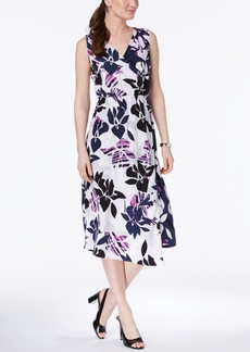 Alfani Faux-Wrap Midi Dress, Created for Macy's