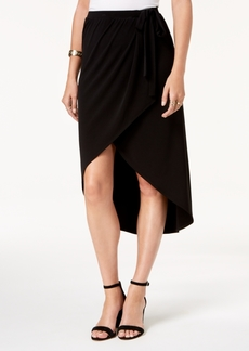 Alfani Faux-Wrap Midi Skirt, Created for Macy's