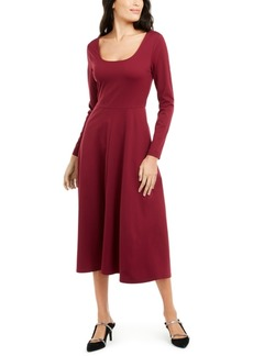 Alfani Fit & Flare Midi Dress, Created for Macy's