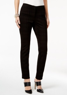 Alfani Flocked Grid-Print Pants, Only at Macy's