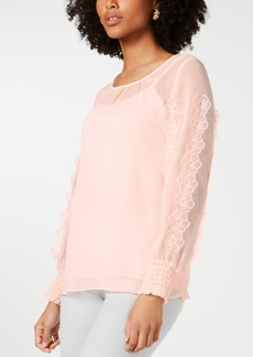 Alfani Floral Applique Top, Created for Macy's