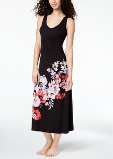 Alfani Floral-Graphic Gathered-Waist Nightgown, Created for Macy's