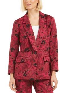 Alfani Floral Jacquard Blazer, Created for Macy's