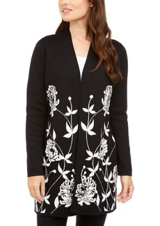Alfani Floral-Print Cardigan, Created For Macy's