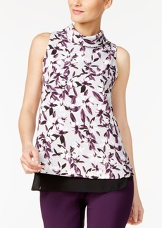 Alfani Petite Printed Roll-Neck Top, Created for Macy's